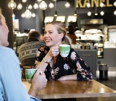 Skravlekopp-kafé på Fløyen