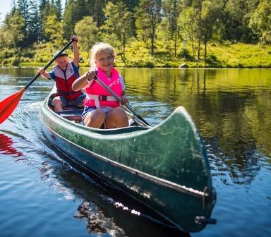 Utleie av kano og sykkel ved Skomakerdiket
